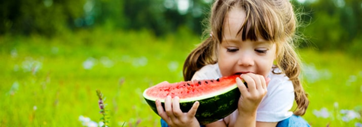 Chiropractic West Bloomfield MI Child Eating Watermelon
